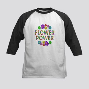 Flower Power Kids Baseball Jersey