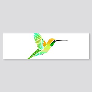 Lemon Lime Sorbet Hummingbird Bumper Sticker