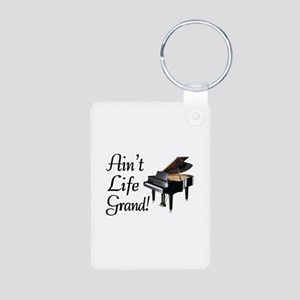 Ain't Life Grand Piano Aluminum Photo Keychain