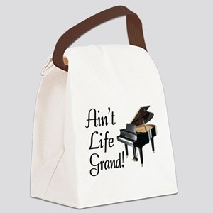Ain't Life Grand Piano Canvas Lunch Bag
