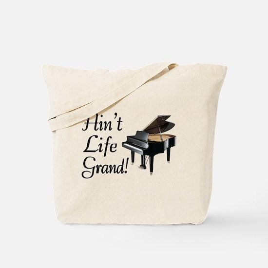 Ain't Life Grand Piano Tote Bag
