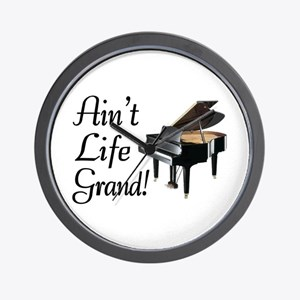 Ain't Life Grand Piano Wall Clock