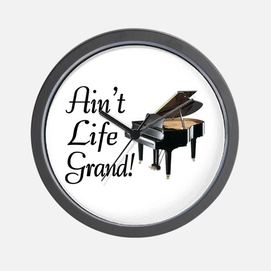 Ain't Life Grand Piano Wall Clock