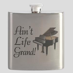 Ain't Life Grand Piano Flask