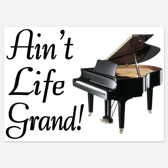Ain't Life Grand Piano 5x7 Flat Cards