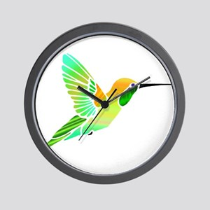 Lemon Lime Sorbet Hummingbird Wall Clock