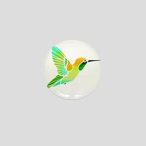 Lemon Lime Sorbet Hummingbird Mini Button