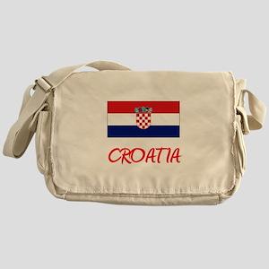Croatia Flag Artistic Red Design Messenger Bag