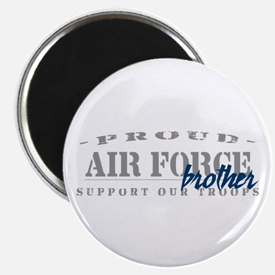 Proud Air Force Brother (Blue) Magnet