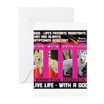Pretty Princess Live Life With A Dog Greeting Card