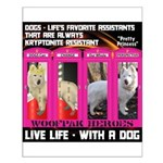 Pretty Princess Live Life With A Dog Posters