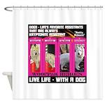 Pretty Princess Live Life With A Dog Shower Curtai