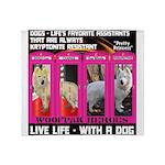 Pretty Princess Live Life With A Dog Throw Blanket