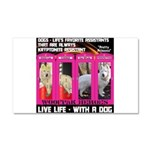 Pretty Princess Live Life With A Dog Car Magnet 20