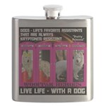 Pretty Princess Live Life With A Dog Flask