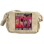 Pretty Princess Live Life With A Dog Messenger Bag