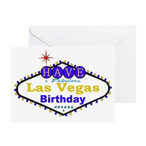 Las Vegas Birthday Greeting Cards