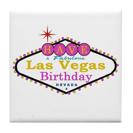 Have A Fabulous Las Vegas Bir Tile Coaster