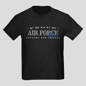 Proud Air Force Brat (Blue) Kids Dark T-Shirt