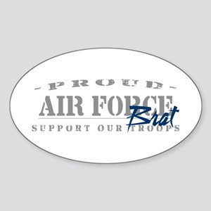 Proud Air Force Brat (Blue) Oval Sticker