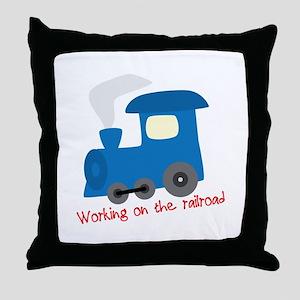 Railroad Job Throw Pillow
