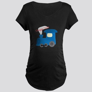 Chugging All The Way Maternity T-Shirt