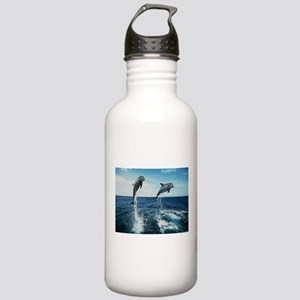 Twin Dolphins Stainless Water Bottle 1.0L