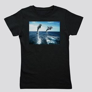 Twin Dolphins Girl's Tee