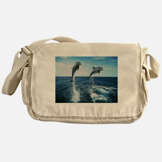 Twin Dolphins Messenger Bag