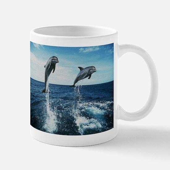 Twin Dolphins Mug