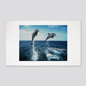 Twin Dolphins 3'x5' Area Rug