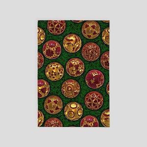 Christmas Balls - Red 4' x 6' Rug