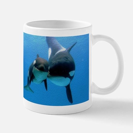Orca Whale and Calf Mug