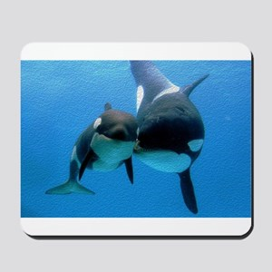 Orca Whale and Calf Mousepad