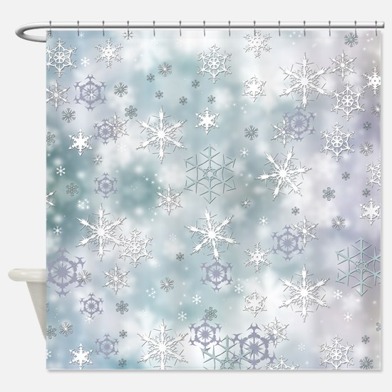Snowflakes Winter Shower Curtain