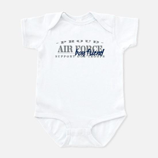 Proud Air Force Boyfriend (Blue) Infant Bodysuit