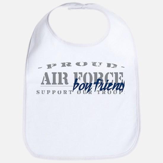 Proud Air Force Boyfriend (Blue) Bib