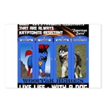 Zuperman Zarro - Live Life With A Dog Postcards (P