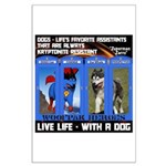 Zuperman Zarro - Live Life With A Dog Posters