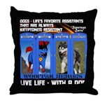 Zuperman Zarro - Live Life With A Dog Throw Pillow