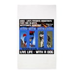 Zuperman Zarro - Live Life With A Dog 3'x5' Area R