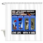 Zuperman Zarro - Live Life With A Dog Shower Curta
