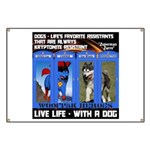 Zuperman Zarro - Live Life With A Dog Banner