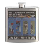 Zuperman Zarro - Live Life With A Dog Flask