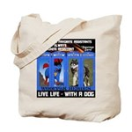 Zuperman Zarro - Live Life With A Dog Tote Bag