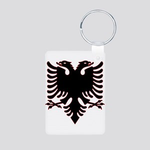 Albanian Eagle Aluminum Photo Keychain Keychains