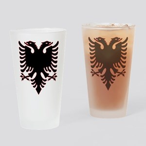 Albanian Eagle Drinking Glass