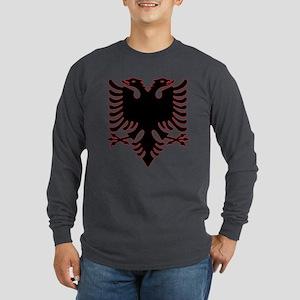Albanian Eagle Long Sleeve Dark T-Shirt