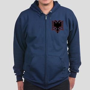 Albanian Eagle Zip Hoodie (dark)