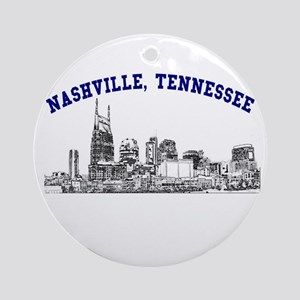 Nashville, Tennessee Ornament (Round)